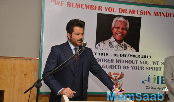 Anil Kapoor Spoke Few Words During Nelson Mandela First Death Anniversary Function