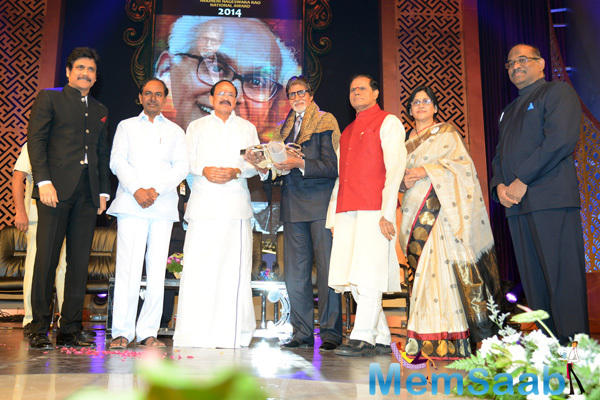 Mega Star Amitabh Bachchan Honored With ANR Awards