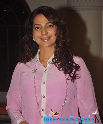 Juhi Chawla Spotted At The Book Launch Of The Curse Of Winwoods