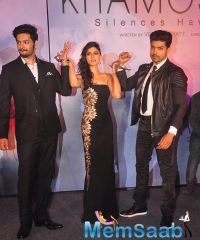 Ali Fazal,Sapna Pabbi And Gurmeet Choudhary Unveiled The Music Of Their Upcoming Film Khamoshiyan