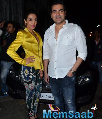 Arbaaz and Malaika Pose During The Dolly Ki Doli Music Launch Event