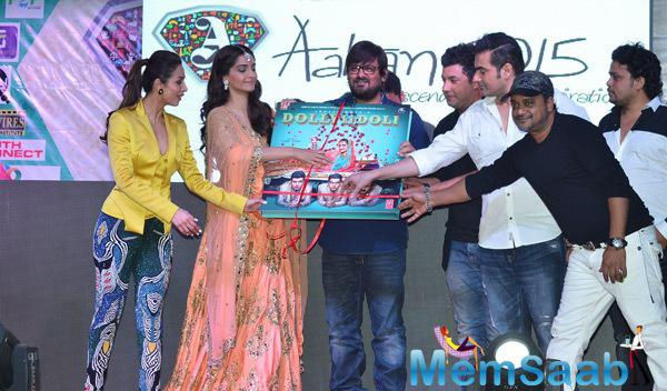 Producer Arbaaz With Sajid-Wajid And Cast Launches Dolly Ki Doli Film Audio