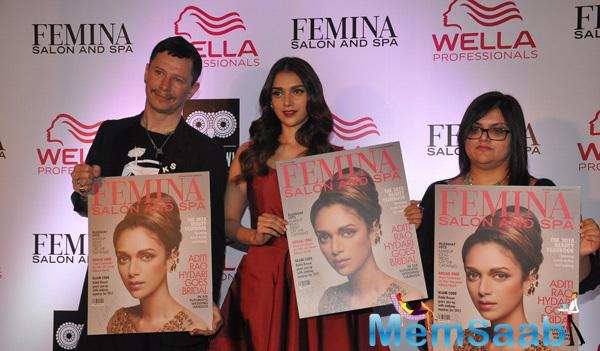 Aditi Rao Hydari Unveils Femina Salon And Spa Cover