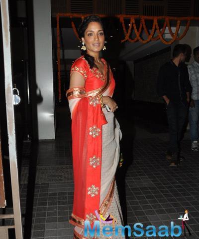 Sandhya Mridul Radiant Look At Soha Ali Khan And Kunal Khemu Wedding Party