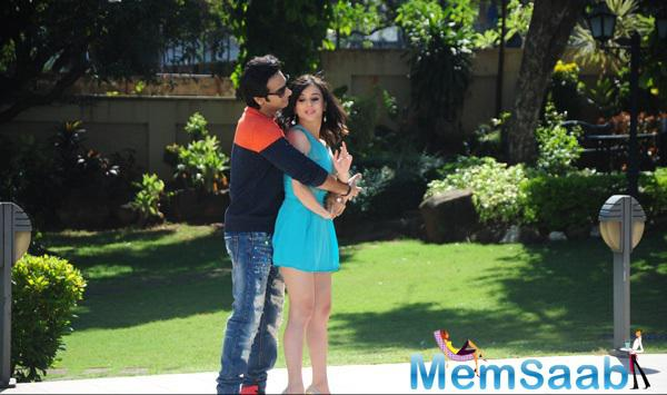 Karan Mehra And Suzanna Mukherjee Romantic Still From Badmashiyan Movie