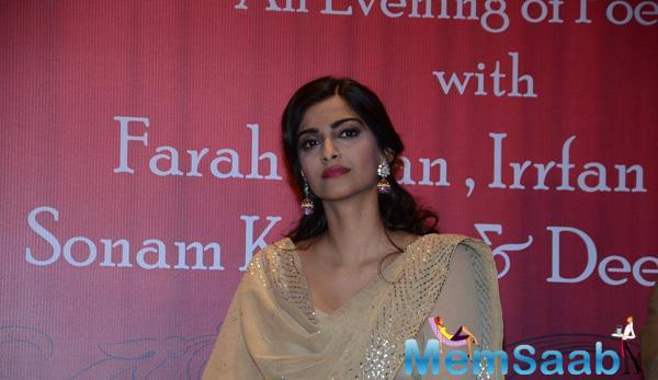 Sonam Kapoor's Traditional Look At A Book Launch Of Ek Maheena Nazmon Ka