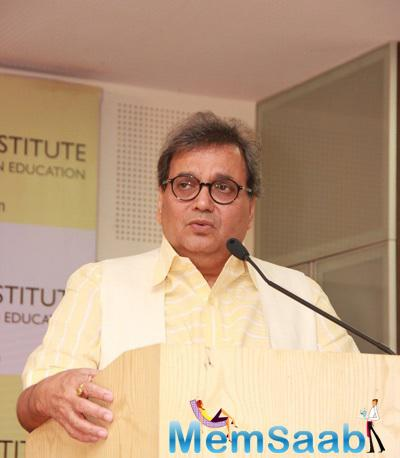 Subhash Ghai Addresses The Media At The Launch Of St Pauls Institute New Facility