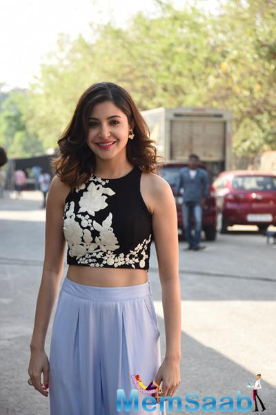 Anushka Sharma Smiling Pose For Camera During The Promotion Of NH10