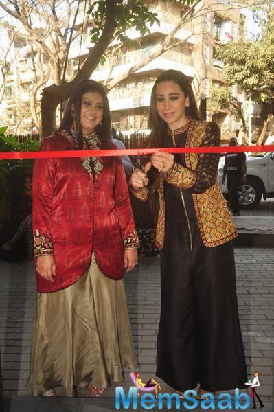 Karisma Kapoor Cuts The Red Ribbon To Inaugurates The Flagship Store Of Designer Anjali Jani