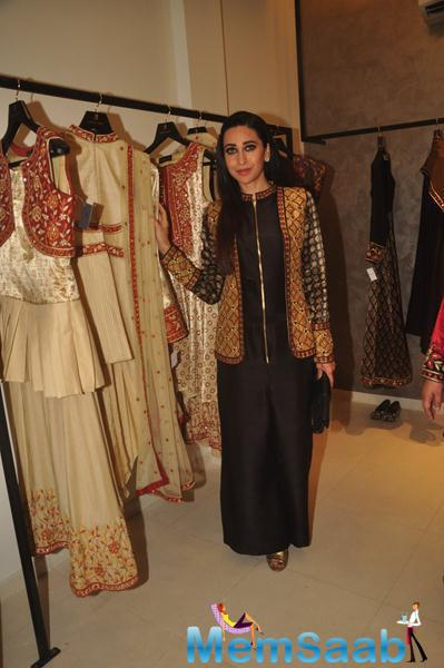 Karisma Kapoor Looks Dazzling During The Launch Of Anjali Jani Flagship Store