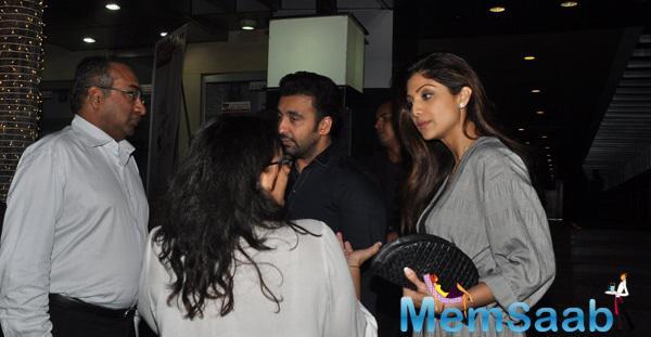 Raj Kundra Spotted With Wife Shilpa Shetty At Hakkasan, Mumbai