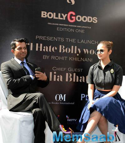 Actress Alia Bhatt At The Launch Of `I Hate Bollywood` A Book Authored By Rohit Khilnani