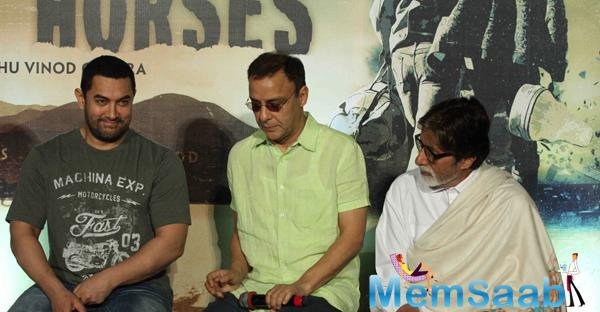 Big B And Aamir Khan Share The Stage To Launch The Trailer Of Vidhu Vinod Chopra's Broken Horses