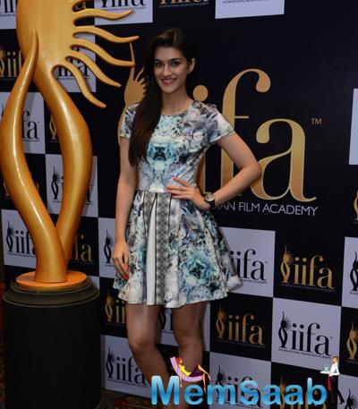 Cutie Pie Kriti Sanon Spotted To Support 16th IIFA Voting Weekend Event