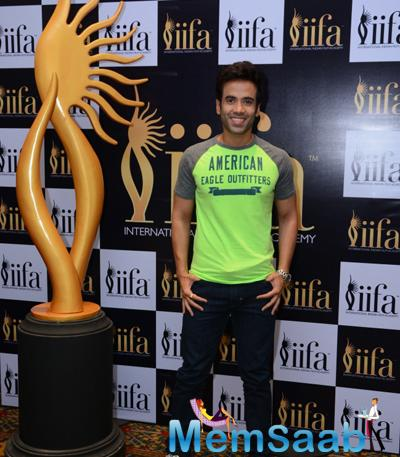 Handsome Tusshar Kapoor Strikes A Pose During 16th IIFA Voting Weekend Event