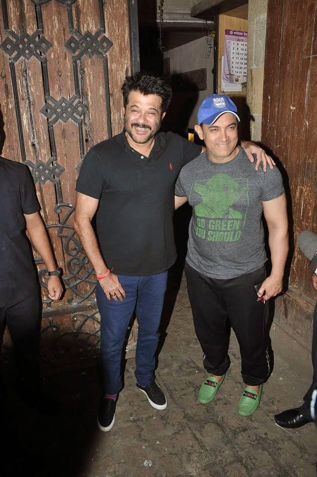 Aamir Khan Visits Anil Kapoor Residence
