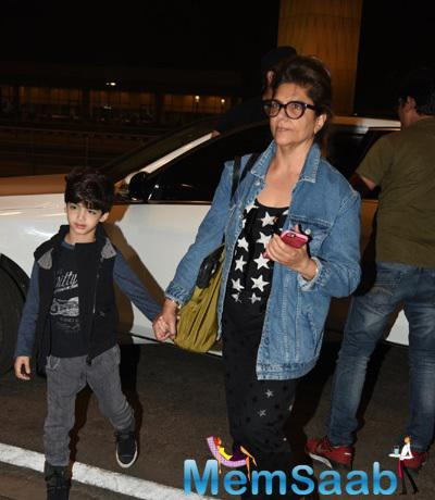 Hrithik Roshan Mom And His Kids Leaves For Maldives