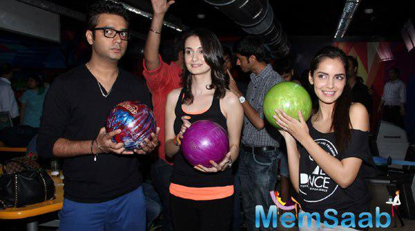 Shazahn , Vaishali Along With Co-Star Kettan Singh Promoting Thier Upcoming Film Solid Patels