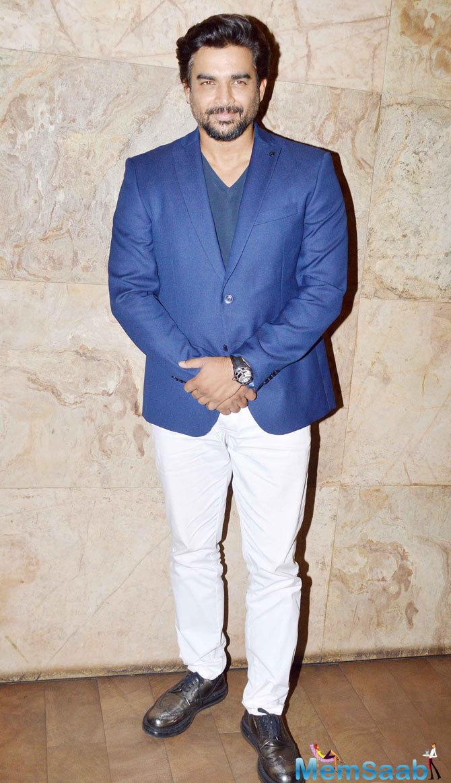 R. Madhavan Casual Look During The Screening Of Tanu Weds Manu Returns