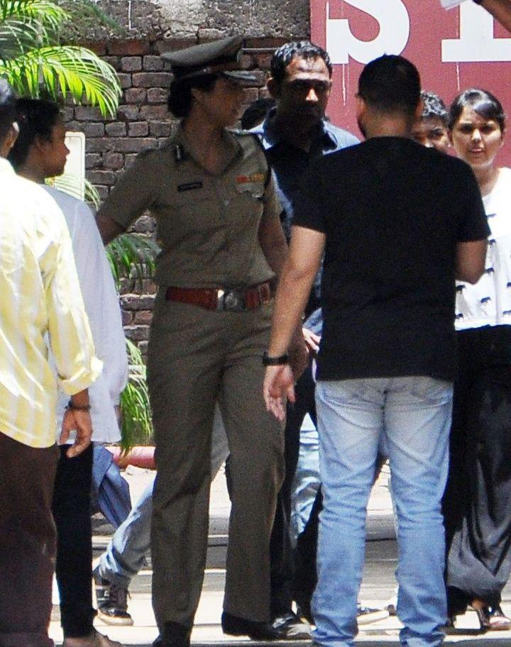 Tabu Snapped In The Guise Of A Police Inspector On Sets Of  Drishyam Remake