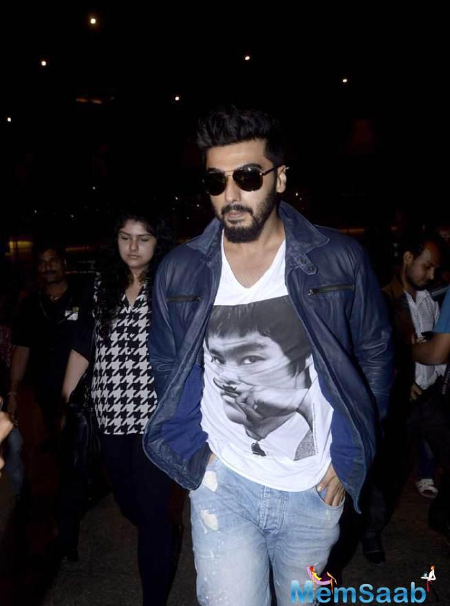Arjun Kapoor Was Accompanied By His Sister Anshula