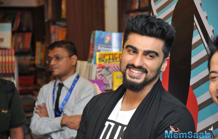 Arjun Kapoor Smiling Look At Debashish Irengbam Me Mia Multiple Book Launch Event