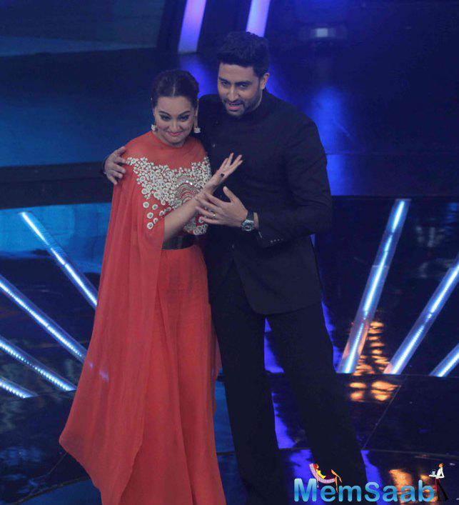 Sonakshi And Abhishek On The Sets IIJ Season 2