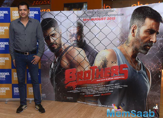 Rahul Mahajan Posed During The Special Screening Of Brothers Movie