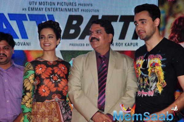 Kangana And Imran Posed During The Promotion Of Their Upcoming Flick Katti Batti In MMK College At Mumbai