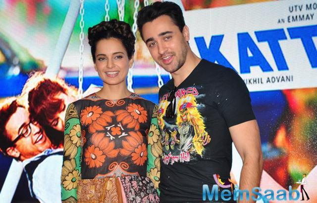 Kangana Ranaut And Imran Khan Promoted Katti Batti In MMK College At Mumbai