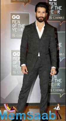 Shahid, Who Also Won 'Actor Of The Year Awards' At The GQ Function Looked Dapper In Formal Attire.