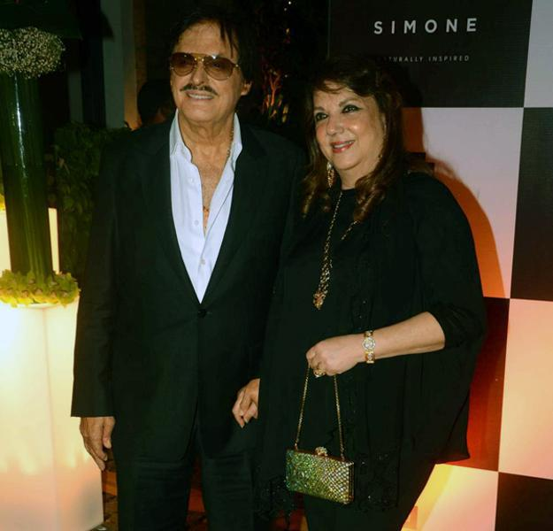 Sanjay Khan And Wife Zarine Khan Attend Simone Khan Arora Store Anniversary