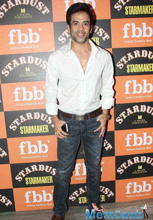 Tusshar Kapoor Photographed During The Launch Of Stardust Starmaker
