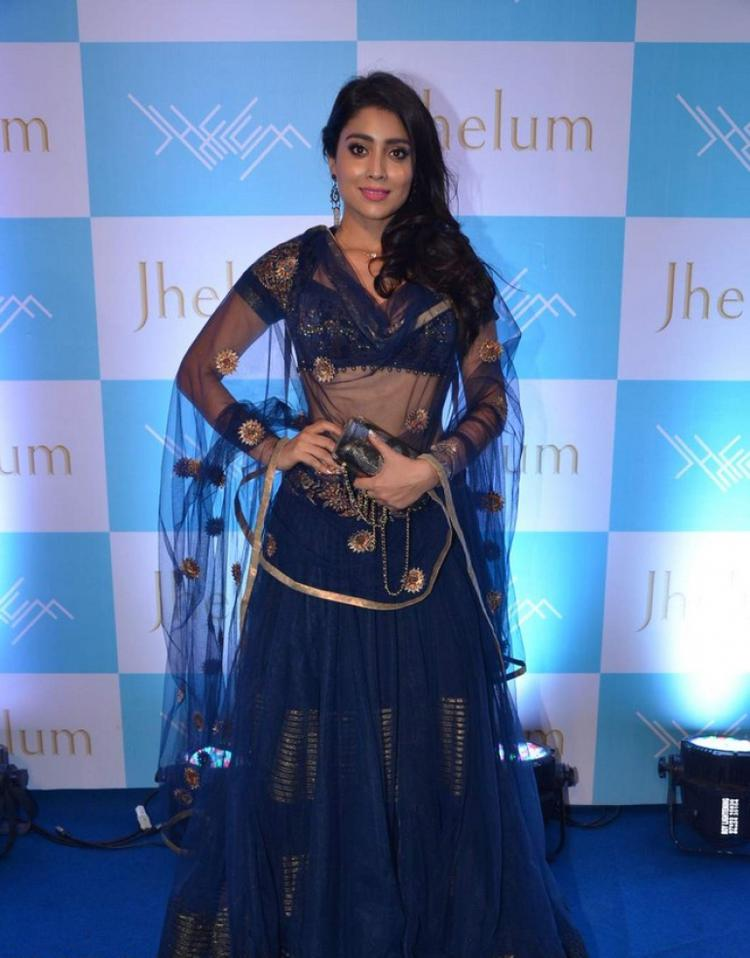 Shriya Saran Opted In JJ Valaya Outfit During The Launch Of Jhelum Store Hosted By Kaykasshan Patel