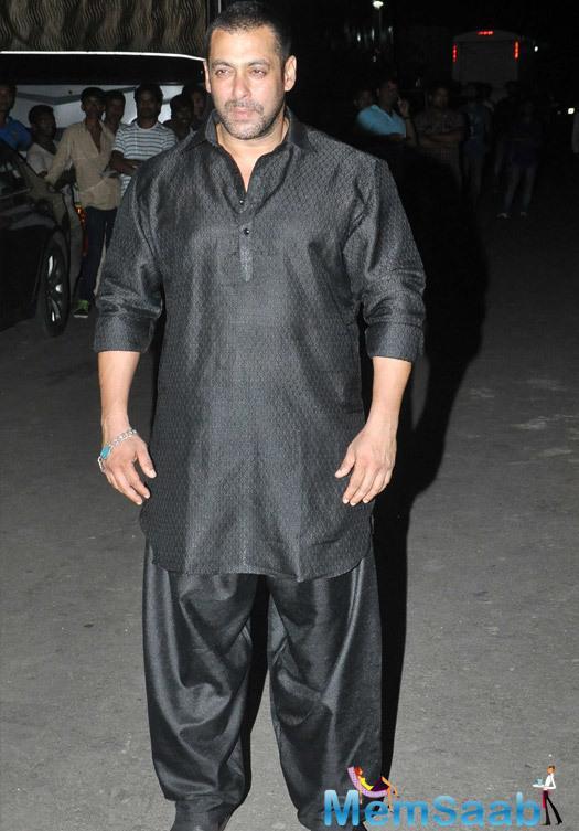 Salman Khan Present During The Diwali Shoot Of Prem Ki Diwali For Life OK Channel