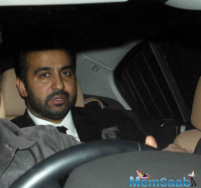 Raj Kundra Also Snapped At The Diwali Party