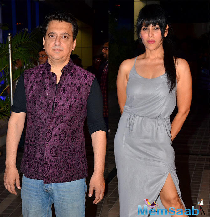 Sajid Nadiadwala And His Wife Wardha Snapped With Cool Look