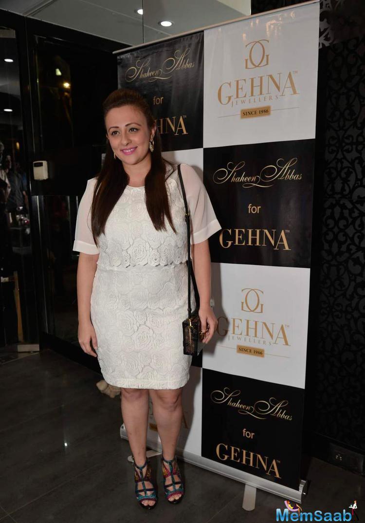 Avantika Malik Khan Present At Shaheen Abbas Collection Launch In Gehna Store