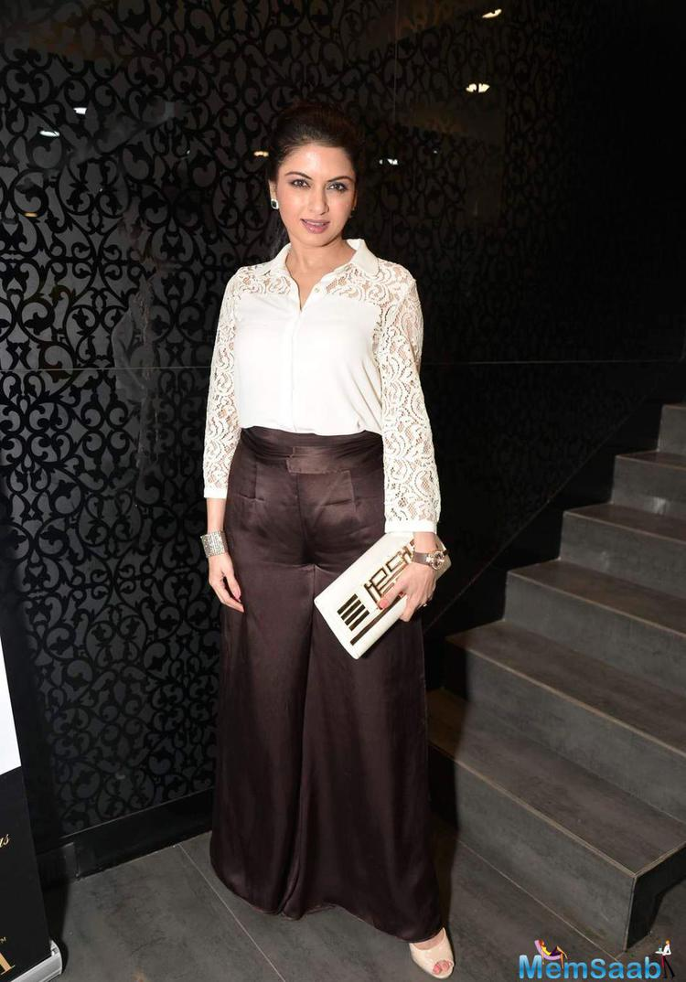 Bhagyashree Patwardhan Beautiful Look During The Launch Of Shaheen Abbas Collection In Gehna Store