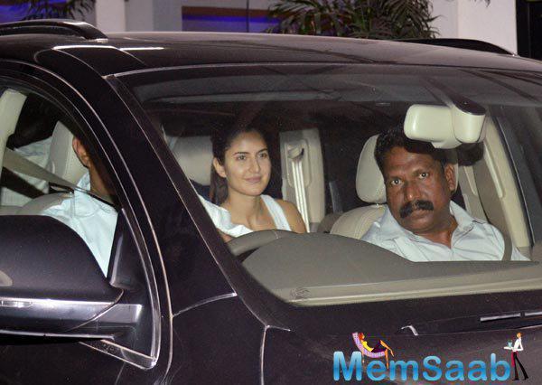 Katrina With Casual Look Snapped At Tamasha Screening