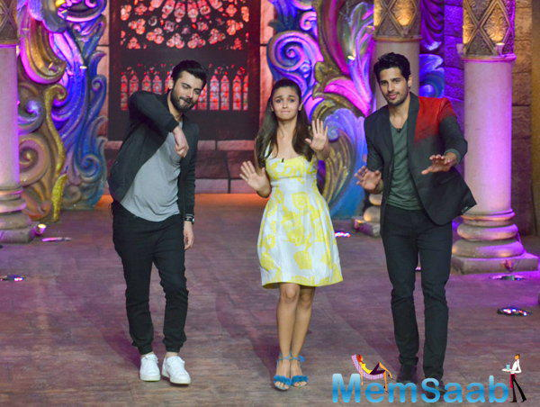 Alia Bhatt, Sidharth Malhotra and Fawad Khan promote their movie 'Kapoor & Sons' on popular television show 'Comedy Nights Bachao'