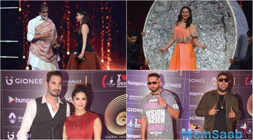 Bollywood stars attended the GIMA 2016 musical event, The stars mentioned that they had a blast and enjoyed every moment of the musical extravaganza.