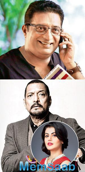 Shriya Saran will soon be seen opposite Nana Patekar in a Hindi movie ,which will be led by Prakash Raj who made the same film in Malayalam as well.