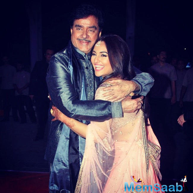The movie also features Sonakshi's father, politician Shatrughan Sinha in cameo roles.