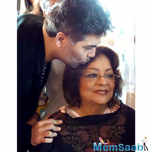 Filmmaker Karan expresses  his feeling saying  'A mother child dynamic is the Sholay of relationships...#happymothersday'