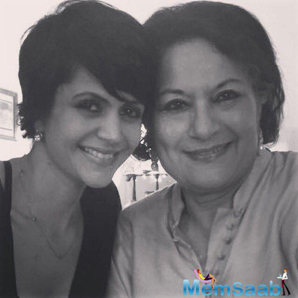 Mandira Bedi posted on her instagram 'HappyMothersDay to my beautiful Mum. May you continue to be livelier and lovelier as the years go by
