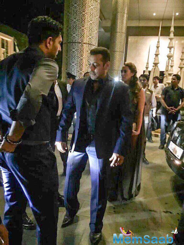 Actor Salman Khan and his rumoured girlfriend Iulia Vantur were photographed outside the venue.
