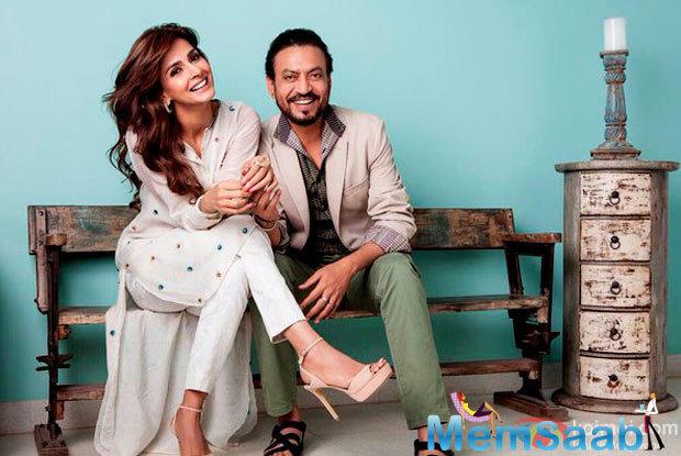 Check out the first look of upcoming Bollywood flick Hindi Medium, starring Irrfan Khan and  Saba Qamar.