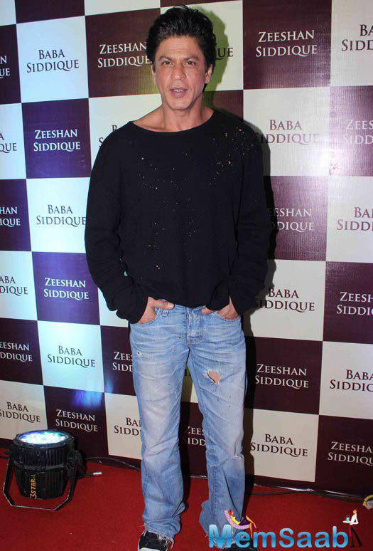 Shah Rukh Khan during the Baba Siddique's Iftar Party, The Iftar bash hosted by MLA Baba Siddique is popular and it also happens to be one of the most spoken events of the year.