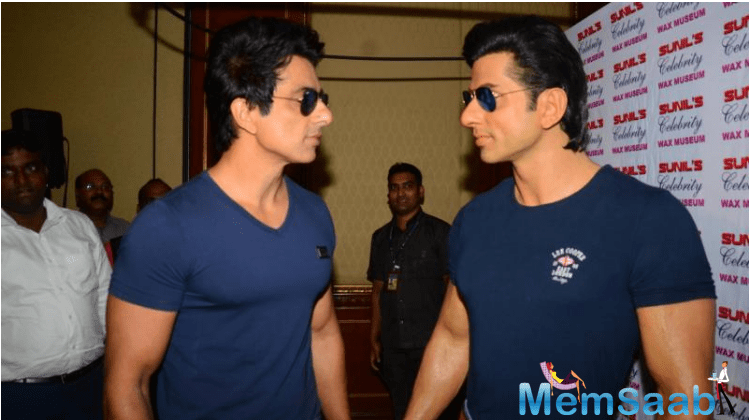 Sonu Sood is an Indian former model, film actor and also a producer.He unveiled his latex wax statue at the Sunil's Celebrity Wax Museum which is located in Lonavla, near Pune.